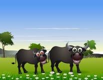 Шарж буйвола с предпосылкой природы бесплатная иллюстрация