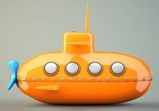 Шарж-введенная в моду подводная лодка Стоковое Фото