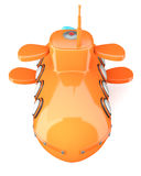 Шарж-введенная в моду подводная лодка Стоковые Изображения