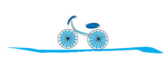 Шарж велосипеда Стоковая Фотография RF