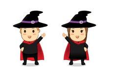Шарж ведьмы и волшебника Стоковая Фотография RF