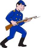 Шарж винтовки штифта солдата армии соединения бесплатная иллюстрация