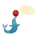 шарж выполняя уплотнение с пузырем речи Стоковое Изображение RF