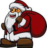 Шарж Дед Мороз Стоковое Фото