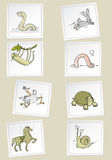 шарж животных иллюстрация штока