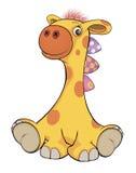 Шарж жирафа игрушки Стоковая Фотография