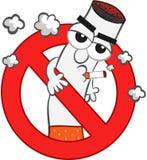 Шарж запрета на курение иллюстрация вектора