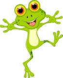 Шарж зеленой лягушки иллюстрация штока