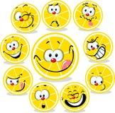 Шарж значка лимона с смешными сторонами бесплатная иллюстрация