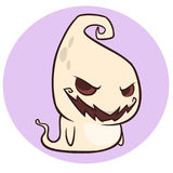 Шарж капризного призрака усмехаясь Иллюстрация вектора Halloween иллюстрация вектора