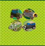 шарж карточки автомобиля ретро Стоковое Фото