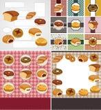 шарж карточки хлеба иллюстрация штока