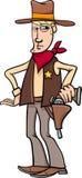 Шарж ковбоя шерифа Стоковое Изображение RF