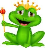 Шарж короля лягушки бесплатная иллюстрация