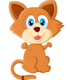 Шарж кота младенца Стоковое Изображение