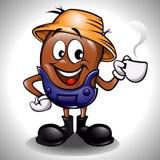 Шарж кофейного зерна фермера Стоковое Фото