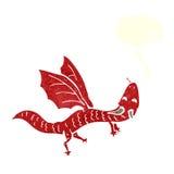 шарж меньший дракон с пузырем речи Стоковая Фотография RF