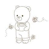 шарж медведя милый иллюстрация вектора