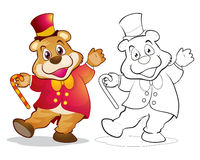 Шарж медведя талисмана фантазии Стоковые Фотографии RF