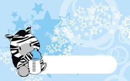 Шарж младенца зебры Стоковое Фото