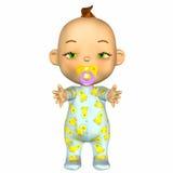 шарж младенца сонный Стоковое Изображение RF