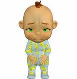 шарж младенца унылый Стоковая Фотография