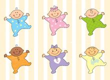 шарж младенцев Стоковые Фото