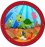 Шарж морской черепахи бесплатная иллюстрация