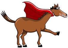 Шарж накидки лошади замаскированный супергероем Стоковое Изображение RF