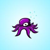 Шарж осьминога Стоковые Фото