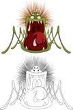 Шарж паука Стоковое Изображение RF