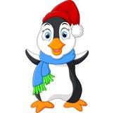 Шарж пингвина развевая Стоковое Фото