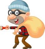 Шарж похитителя с мешком денег Стоковое Фото