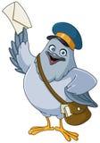 Шарж почтового голубя Стоковая Фотография RF