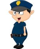 Шарж полицейския на белой предпосылке Стоковая Фотография