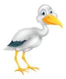 Шарж птицы аиста Стоковые Изображения