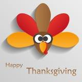 Шарж птицы индюка Счастливое знамя торжества благодарения T Стоковая Фотография RF