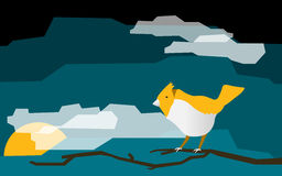 Шарж птицы с текстовым полем Стоковые Фото