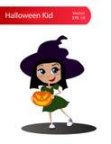 Шарж ребенк хеллоуина вектора бесплатная иллюстрация