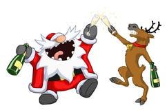 Шарж рождества партии, здравица иллюстрация штока