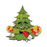 Шарж рождественской елки Стоковое Фото