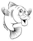 Шарж рыб трески Стоковая Фотография RF