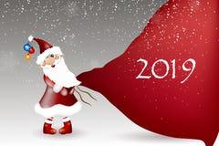 Шарж Санта Клауса на белой предпосылке стоковые фото