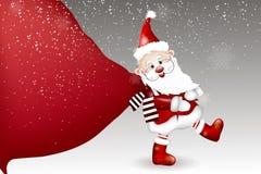 Шарж Санта Клауса на белой предпосылке стоковые фотографии rf
