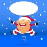 Шарж Санта Клаус, вектор Стоковое фото RF