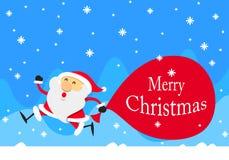 Шарж Санта Клаус, вектор Стоковое Изображение