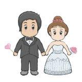 Шарж свадьбы Стоковое Фото