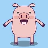 Шарж свиньи Стоковое Изображение