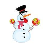 Шарж снеговика Стоковые Изображения RF