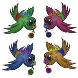 Шарж стикера птицы Стоковые Изображения RF
